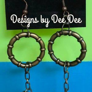 Bronze Hook and  Loops Drop Earrings